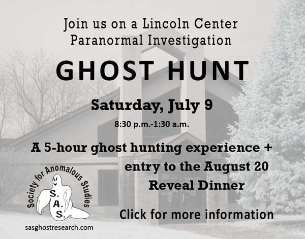Click for more info on our ghost hunt